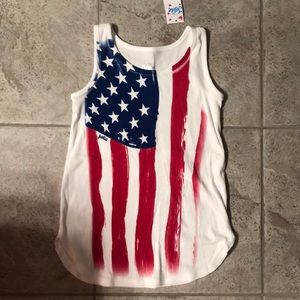 NEW Justice American Flag Tank Top